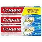 Colgate Total Whitening Gel Toothpaste, 120 mL, 3-Pack