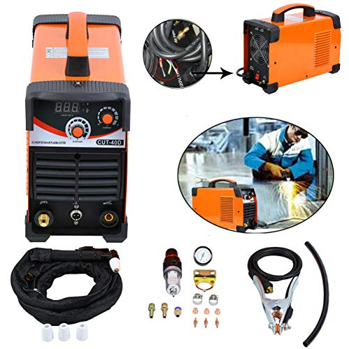 Muguang 220V Plasma Schneider Plasma Cutter Machine Inverter Digitale 10-40A con Taglio Accessori 1-10mm (Senza Spina)
