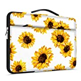 Lapac 15-15.6 inch Laptop Sleeves Handle Bag Compatible with MacBook Pro 15 16 inch, Notebook Computer, hp Chromebook Case, 360 Protective Briefcase & Water Resistant Yellow Sunflower Bag with Pocket