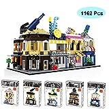 LODIY Architektur Bausteine, 1162 Teile City Bausteine Haus 5-in-1 Set Architecture Klemmbausteine Modellbau Konstruktionsspielzeug Geschenk