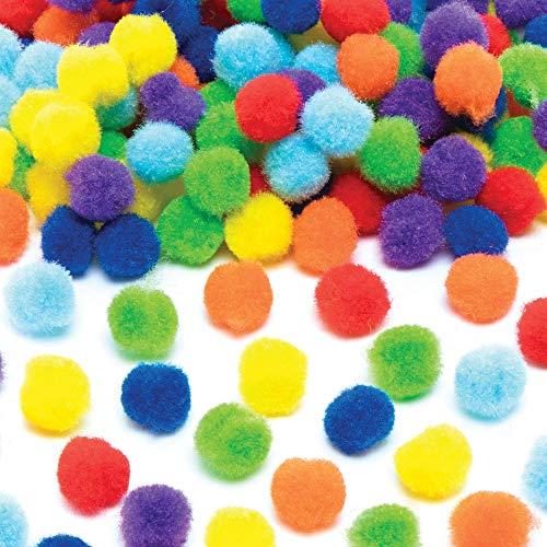 Baker Ross Regenboog Zelfklevende Pompoms (200 stuks) Knutselspullen voor Kinderen