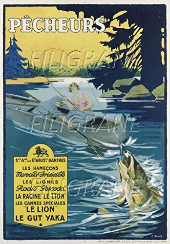 PostersAndCo TM Barthes Angelartikel Rvaxposter/Kunstdruck 40 x 60 cm * d1 Poster Vintage/Retro