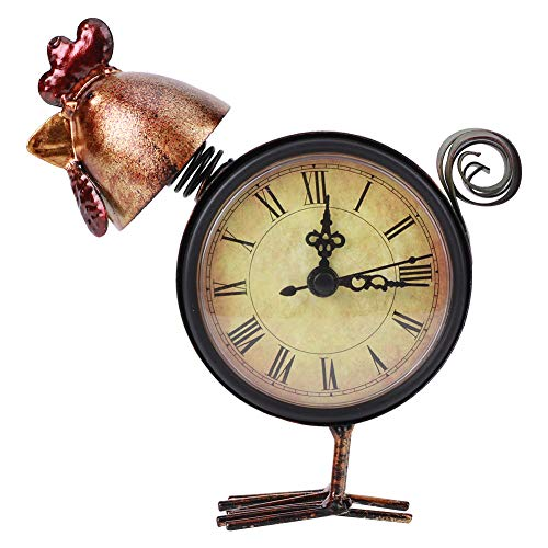 Reloj de Mesa de Escritorio con Forma de Pollo, Adorno para el hogar, Regalos artesanales, Adorno de decoración del hogar para Sala de Estar, Dormitorio, al Lado del Estante, Mesa clásica