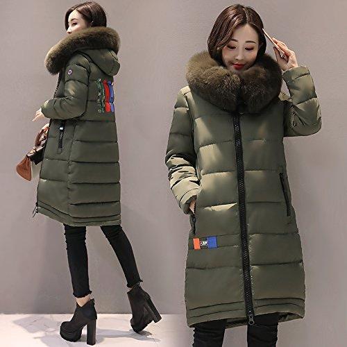 Xuanku Manteau en Coton Femmes Longue Section De l'hiver Manteau d'hiver VêteHommests en Coton Et De Couettes en Coton Et Ladies'