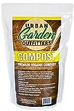 Premium Organic Compost - Natural Soil Builder Garden Food - Resealable Bag (3lb Resealable Bag)