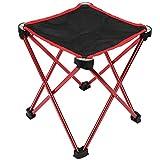 Alomejor1 Tabouret de Camping Pliant Chaise de pêche Tabouret de Camping Pliable Idéal pour Le Camping Pique-Nique de pêche