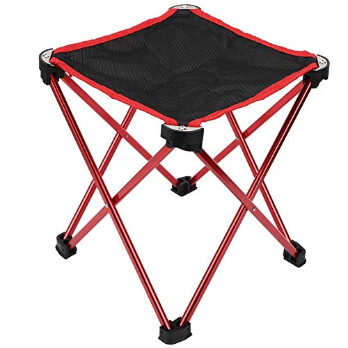 T best Folding Camping Stools, Outdoor Portable Large Ultra-Lightweight Folding Chair Aluminum Alloy Camping Stool with Storage Bag for Fishing Camping Beach Barbecue