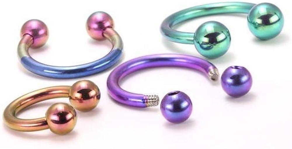 Painful Pleasures 14g Titanium Circular Barbells - Body Jewelry - Grade 23