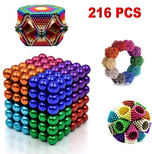 GABRIEL 216 cápsulas 5 Mm Bolas Magnéticos, Juegos de Escritorio Juguetes Juguetes para aliviar el estrés para Inteligencia Juguetes educativos DIY Alivio del estrés para Adultos