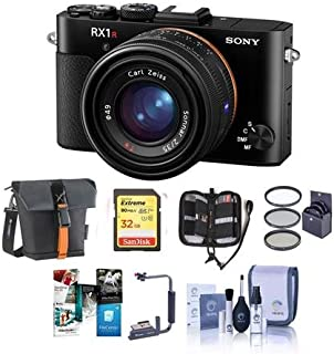 Sony Cyber-Shot DSC-RX1R II Full Frame Digital Camera - Bundle with 32GB SDHC U3 Card, Holster Case, Flip Flash Bracket, 49mm Filter Kit, Cleaning Kit, Memory Wallet, Software Package