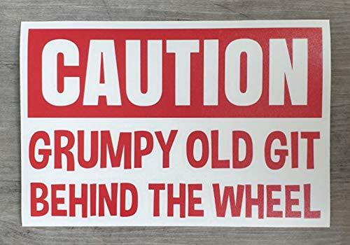 """HSS435 Auto-Aufkleber mit Aufschrift """"Caution Grumpy Old Git Behind The Wheel"""""""