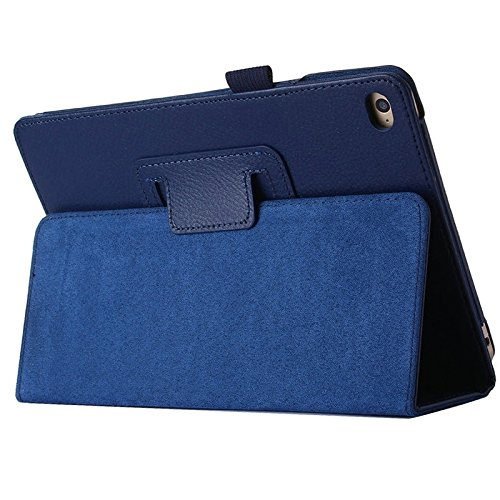 FATEGGS Mobile Phone Accessories Litchi Texture Horizontal Flip PU Leather Case with Holder for iPad Pro 12.9 inch Case Covers (Color : Dark Blue)