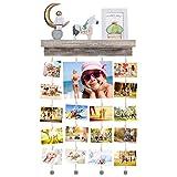 Halcent Cornici Foto Mensole da Parete Portafoto Multiple Porta Foto Collage Scaffale Legno Wall Decor