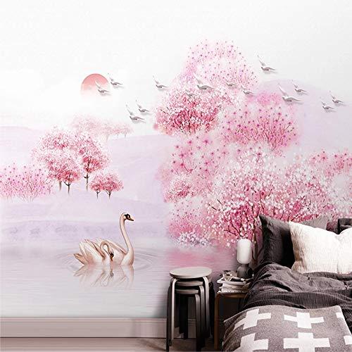Fotobehang 3D Mooie Perzik Bloesem Bos Muren Woonkamer Bruiloft Huis Achtergrond Muur Schilderen Papel De Parede 3 D