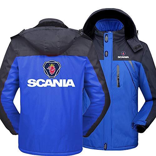 NISHUSHANW Herren Wasserdicht Hooded Jacke Berg Ski Vlies Zum Saab/Scania Beiläufig Jacken Windbreaker Warm Mantel Y / Blue1 / XL
