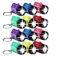 Schramm 12er Pack Schlüsselanhänger Taschenlampe verschieden farbig sortiert Batterien sind im Lieferumfang enthalten Gewicht nur 8g / Länge 3,5cm Neu und Originalverpackt