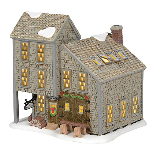 Department 56 New England Village Edgartown Boat Builder, Lighted Building, 6.65 inch High