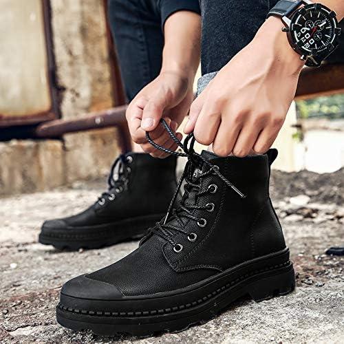 Shukun Herren Stiefel Herbst und Winter Extra Large Code Martin Stiefel Herrenschuhe Extra Größe Pu Herren Stiefel Cotton Stiefel