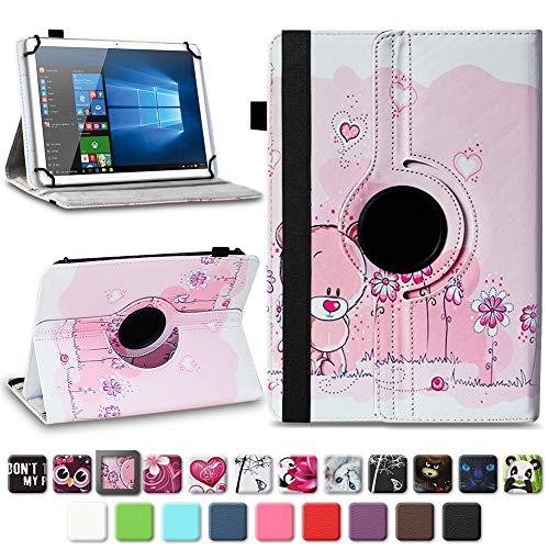 na-commerce Robuste Universal 10-10.1 Zoll Tablet Schutzhülle aus hochwertigem Kunstleder Hülle Tasche Standfunktion 360° Drehbar Cover Case Schutzhülle, Farben:Motiv 1