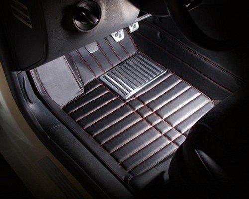 AudelTech Mitsubishi Floor Mats & Car Mats Custom Fit Full Surrounded Floor Liner (Black)