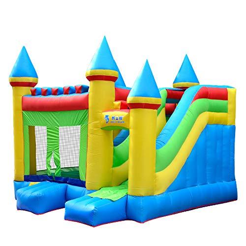 FLY FLU Hipfburg Outdoor,Aufblasbare Rutsche Kinder Große Aufblasbare Burg Kinder Haushalt Trampolin Square Large Vergnügungspark Kinderspielgeräte