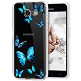Tothedu Phone Case for Galaxy J7 2017/J7 Prime/J7 Sky Pro/J7 Halo/J7 V/J7 Perx/Galaxy Halo Case, Clear Slim Shockproof Soft TPU Back Phone Protective Cover Cases for Samsung Galaxy J7 2017 (butterfly)