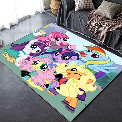 Yugy Alfombra para niños Anime Rectángulo de Dibujos Animados Pikachu Niños Niñas Habitación para niños Alfombra de Piso de Dormitorio Alfombra de Sala de Estar 160 * 230cm