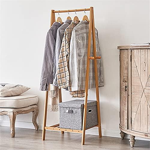 TEET Perchero para ropa de madera, resistente, con barra para colgar, para armario, organizador de carril, para casa, oficina, interior
