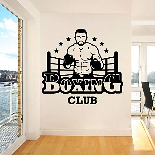 YCYY Boxing Club Wall Vinyl Wall Stickers Decorate Girls Bedroom Stickers Gym Company Decorative Mural Posters Decorated 43 X 40Cm ⭐