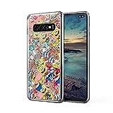 Peeknga Sponge Bob Sticker Bomb Case Cover Compatible for Samsung Galaxy S10 Plus S10+ 1954117052255