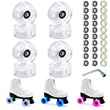 Yeipower Roller Skate Wheels Quad-Light - Luminous Light Up 8 Pack 32mm x 58mm ABEC-9 608 Bearings 82A Wheels for Quad Skating and Skateboarding