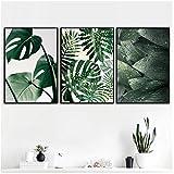 xwwnzdq Frische Grüne Große Blätter Wand Kunstdruck