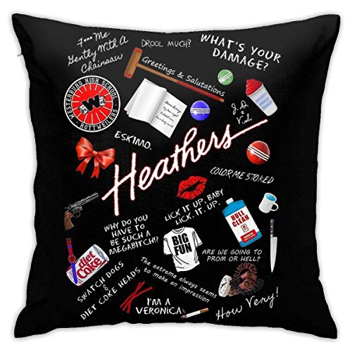 brandless Heathers Musical Bedroom Sofa Decorative Cushion Throw Pillow Cover Case 18 X 18 Inch
