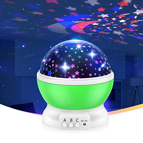 ATOPDREAM Sternenhimmel Projektor für Kinder - Bestes Geschenk & Spielzeug (Grün)