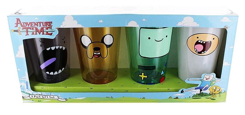 Adventure Time Faces 4 Piece Pint Glass Set