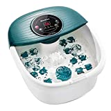 Foot Spa/Bath Massager with Heat, Bubbles, and Vibration, Digital Temperature Control, 16 Masssage Rollers with Mini Acupressure Massage Points, Soothe Feet
