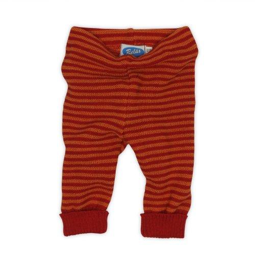 REIFF Baby Legging Strick Hose Wollhose Merino Schurwolle Ringel kbT Bio Öko NEU, burgund und cayenne, 74/80