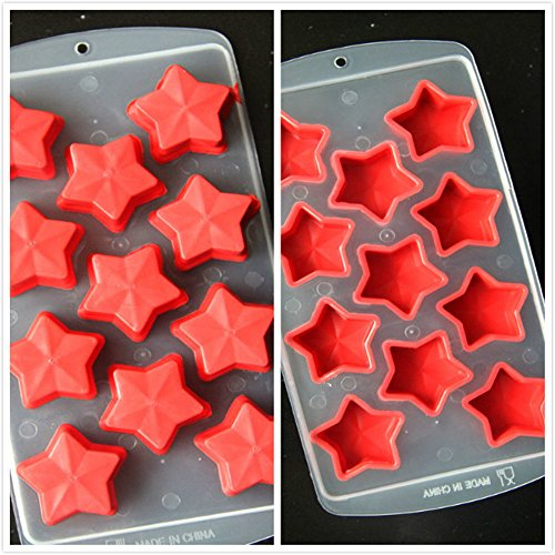 YQL Ice Mold,Ice Cube Tray (Red Five-Pointed Star)