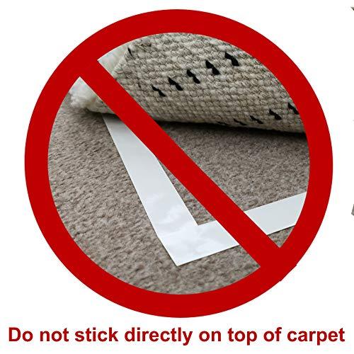 Diy Doctor - Extra starkes Doppelseitiges Klebeband für Teppich - Hinterlässt keine Spuren - Viele Einsatzmöglichkeiten - 21mm x 20m