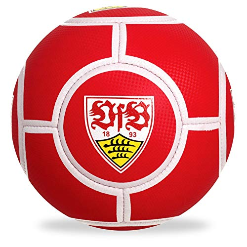 VfB Stuttgart Fußball - Logo rot - Ball Gr. 5 - Plus Lesezeichen Wir lieben Fußball