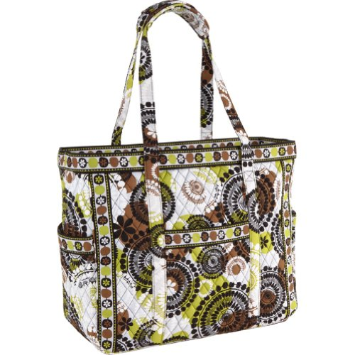 Vera Bradley Get Carried Away Tote (Cocoa Moss)