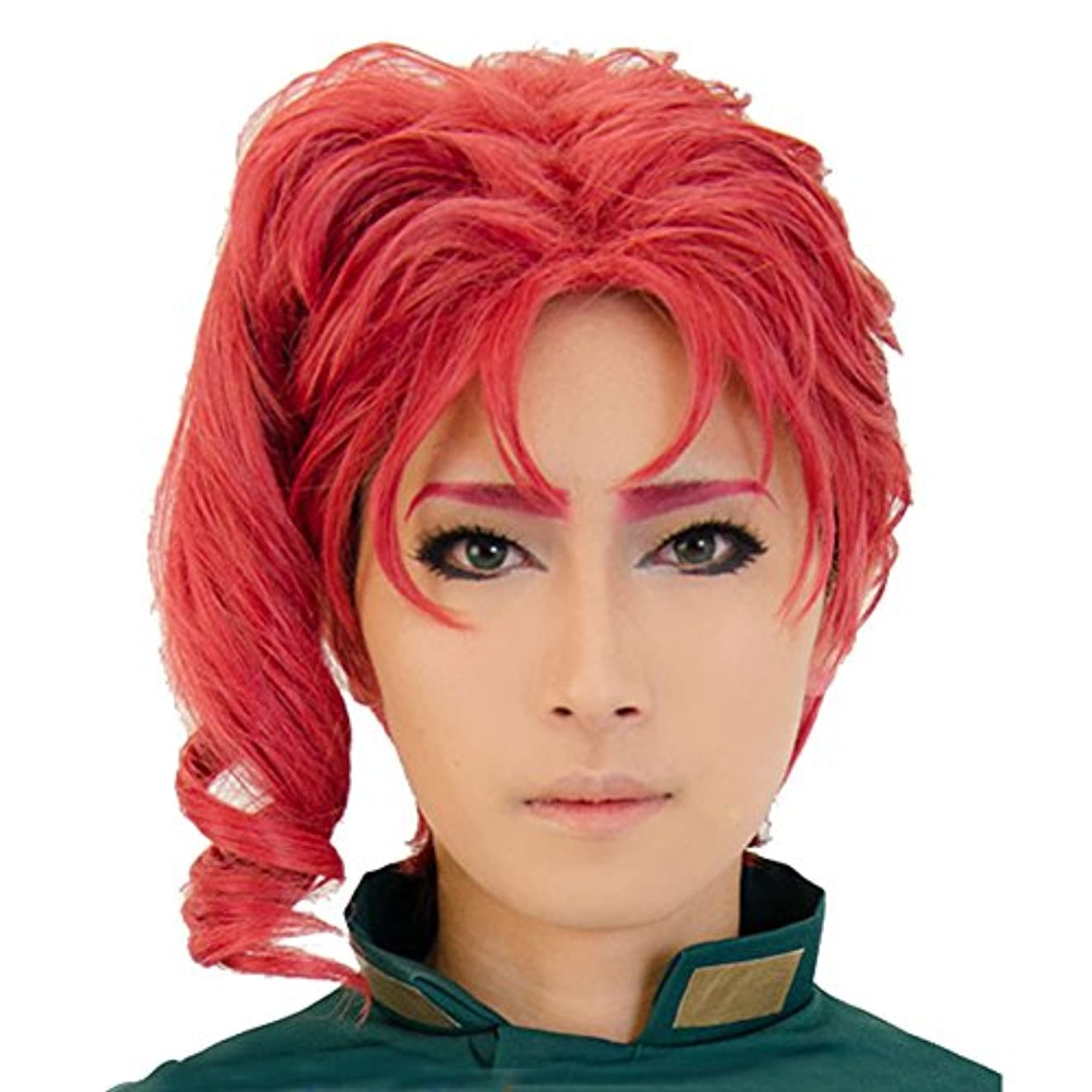 Coslive JOJO's Bizarre Adventure Cosplay Noriaki Kakyoin Prestyled Short Red Curly Wig