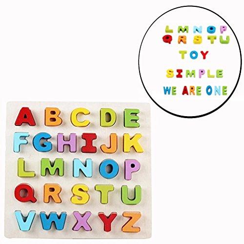 Arco Iris Juguetes para Desarrollo de Bebé Inglés Alfabeto de Mayúsculas