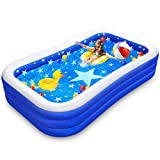 Inflatable Pool for Kids Adults, Toddlers Baby Children, Family Swimming Pools Blow Up Kiddie Pool for Garden, Backyard, Outdoor Summer Water Party, Above Ground Pool Large Sized 120' X 72' X 22'