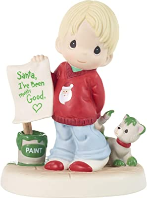 Precious Moments Boy with Letter to Santa Figurine, Multi