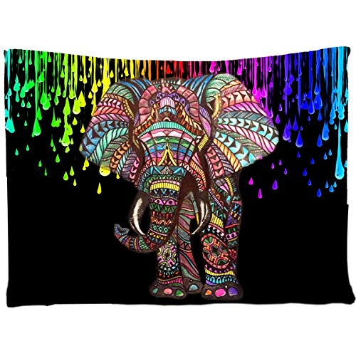 Assaoy Tapestry Elephant,Watercolor Tapestry Wall Bedroom Living Room Dorms Decor Hippie Colorful Hanging Beach Blanket Art Sets 60 X 80 Inches (Elephant)