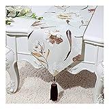 XIAHESHIPIN2-テーブルフラグ テーブルランナー和風現代的なミニマリストスタイルの古典的なレトロな古典のコーヒーテーブルクロス刺繍麻テーブルランナー テーブルフラグ-8.12 (Color : 19, Size : 33 300cm)