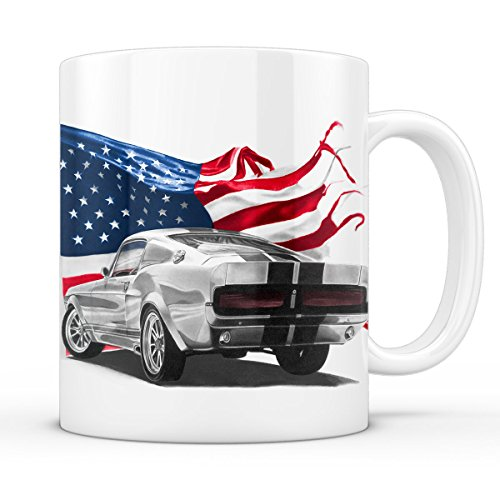 A.N.T. Stars and Stripes Muscle Car Tasse mustang