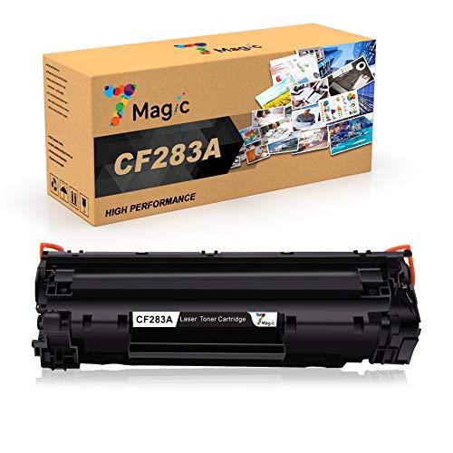 7Magic Sostituzione cartuccia toner compatibile per HP 83A CF283A per HP Laserjet Pro MFP M201n MFP M125a MFP M125nw MFP M125rnw MFP M127fs MFP M127fw MFP M127fn MFP M225dn MFP M225dw (1 Nero)