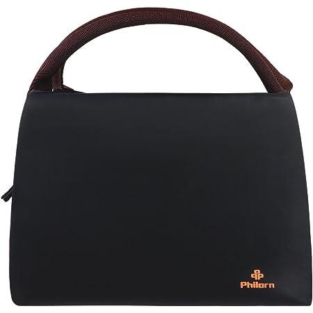 PHILORN Sac Repas Lunch Bag Déjeuner Boite Isotherme Fourre-Tout pour Le École et Le Travail, Noir